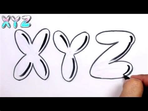 How to write bubble letters step by step