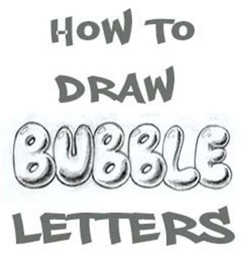 How to Draw Bubble Letters - DrawingNow